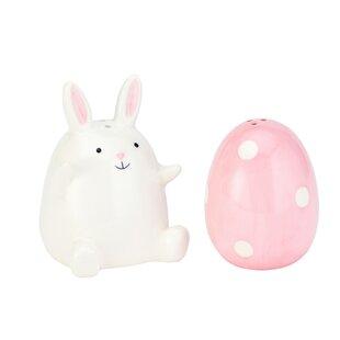 Funny Bunny Ceramic Salt and Pepper Shaker Set