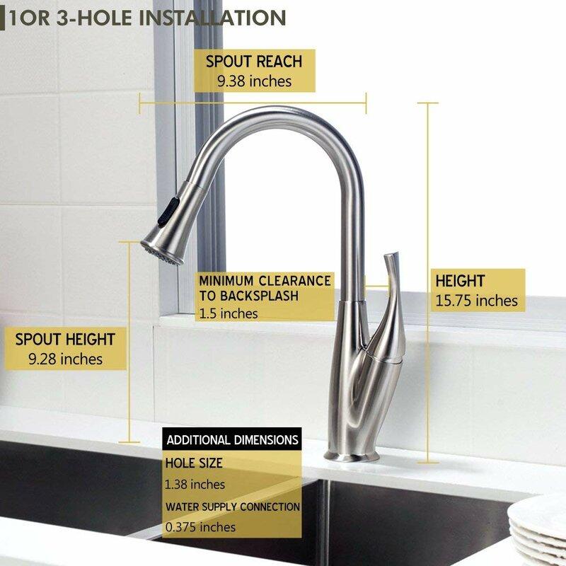 Matrix Decors Pull Down Single Handle Kitchen Faucet Wayfair