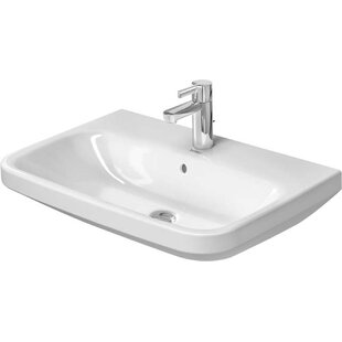 Shop For DuraStyle Ceramic 22 Wall Mount Bathroom Sink with Overflow By Duravit