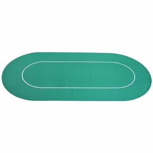70.75 L Player Rubber Oval Poker Table Top by Soozier