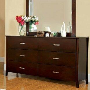 Orren Ellis Sabbagh Durable 6 Drawer Double Dresser