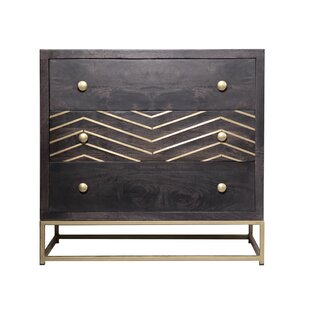 Compare Abou 3 Drawer Dresser by Wrought Studio