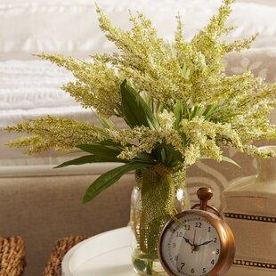 Amalia Spring Additions White Heather in Acrylic Water Mason Jar