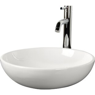 D'Vontz Classic Sphere Vitreous China Circular Vessel Bathroom Sink wi..