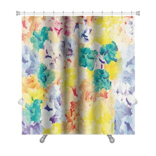 Art Primo Floral Watercolor Abstract Premium Single Shower Curtain