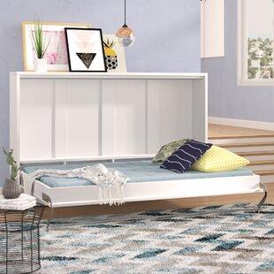 Brayden Studio Clearwater Twin Murphy Bed with Mattress