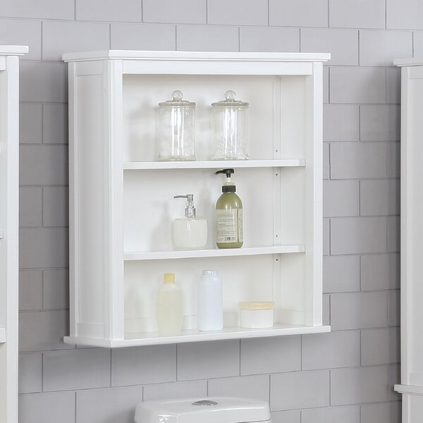 Highland Dunes Carruthers 27 W X 29 H Wall Mounted Bath Storage Cabinet Reviews Wayfair