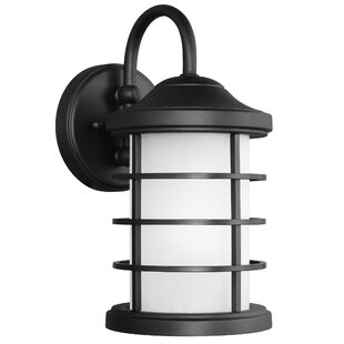 Newcastle LED Outdoor Wall Lantern by Breakwater Bay