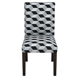 Latitude Run Celeste Marble Cube Parsons Chair