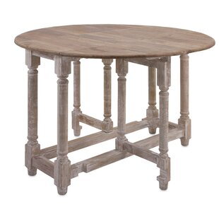 One Allium Way Larue Drop Leaf Extendable Dining Table