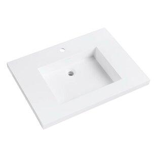 Buying VersaStone Solid Surface 31 Single Bathroom Vanity Top ByAvanity