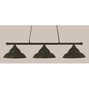 Mendez 3-Light Metal Billiard Light by Red Barrel Studio