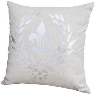 Triste Fleur De Lis Throw Pillow