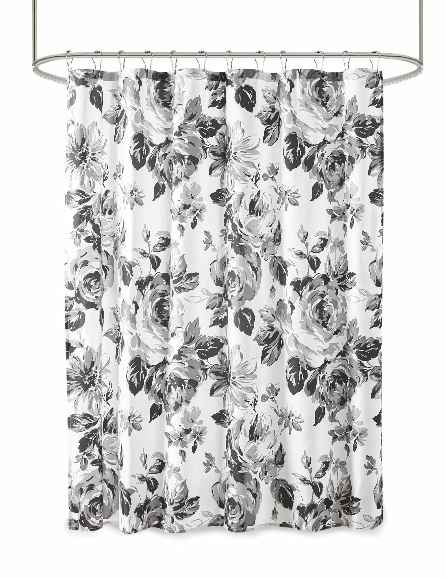 Three Posts Leyt Floral Single Shower Curtain Reviews