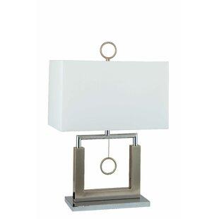 Savings Triangulum Open Square Metal 23 Table Lamp By Orren Ellis
