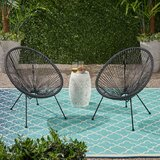 Englewood Outdoor Hammock Weave Patio Chair (Set of 2)