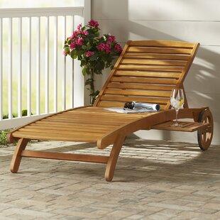 Beachcrest Home Joaquin Balau Wood Patio Chaise Lounge