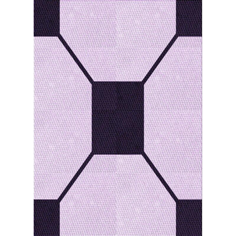 East Urban Home Geometric Wool Purple Blue Area Rug Wayfair