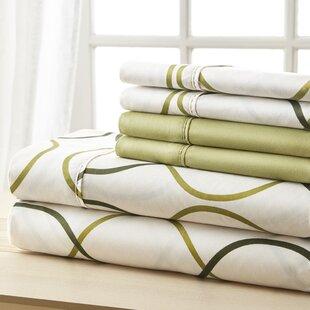 Socorro Green Circles Sheet Set