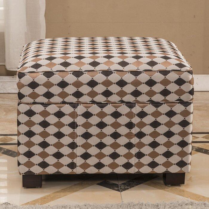 Astonishing Contemporary Plaid Storage Ottoman Machost Co Dining Chair Design Ideas Machostcouk