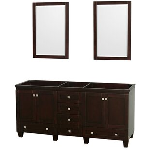 Acclaim 71 Double Bathroom Vanity Base by Wyndham Collection