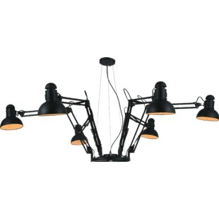 CWI Lighting Eddy 6-Light Shaded Chandelier