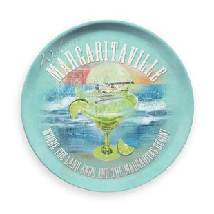 Margaritaville Scene Round Melamine Platter by Margaritaville