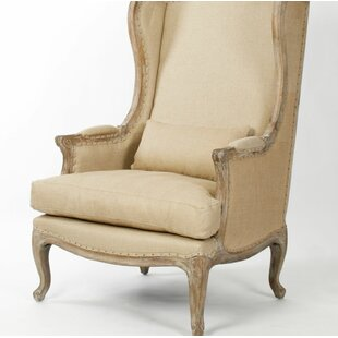 Buy clear Eira Wingback Chair by One Allium Way Reviews (2019) & Buyer's Guide