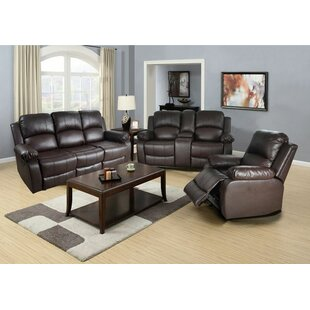 Lucius Reclining 3 Piece Living Room Set