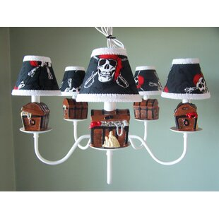 Silly Bear Lighting Pirate's Treasure 5-Light Shaded Chandelier