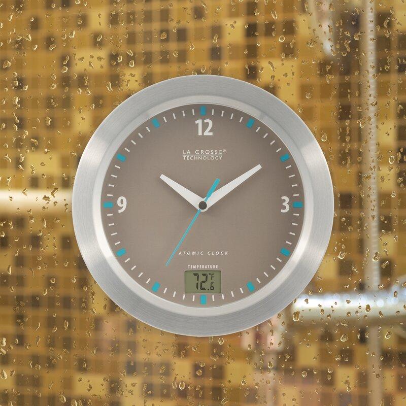 "Shower clock-Atomic Bathroom 7.5"" Wall Clock"
