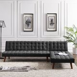 Rieves 100 Wide Linen Reversible Sleeper Corner Sectional by George Oliver