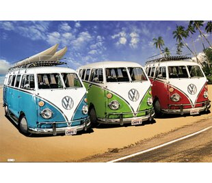 adc0b2d5ea  VW Campers  Photographic Print Poster