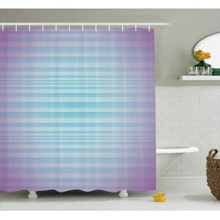 Enrique Minimalist Stripes Single Shower Curtain