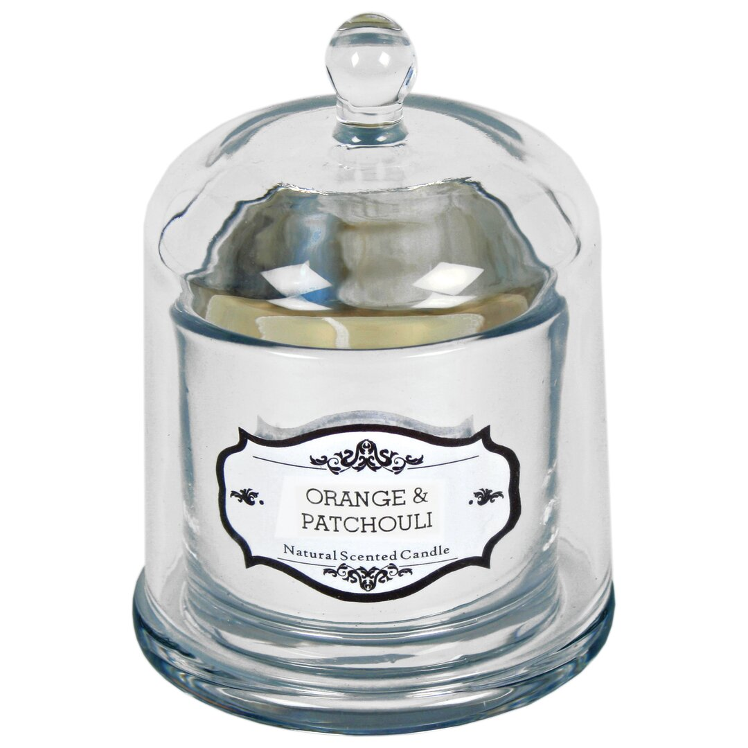 Orange and Patchouli Scented Jar Candle