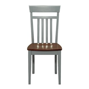 Jace Solid Wood Dining Chair (Set of 2) August Grove