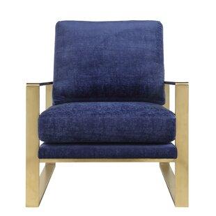 Boswell Velvet Armchair by Everly Quinn