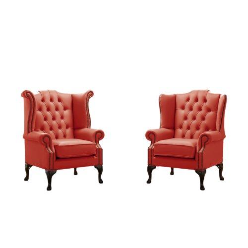 Belfield 2 Piece Wingback Chair Set Astoria Grand Upholstery Colour: Horizon