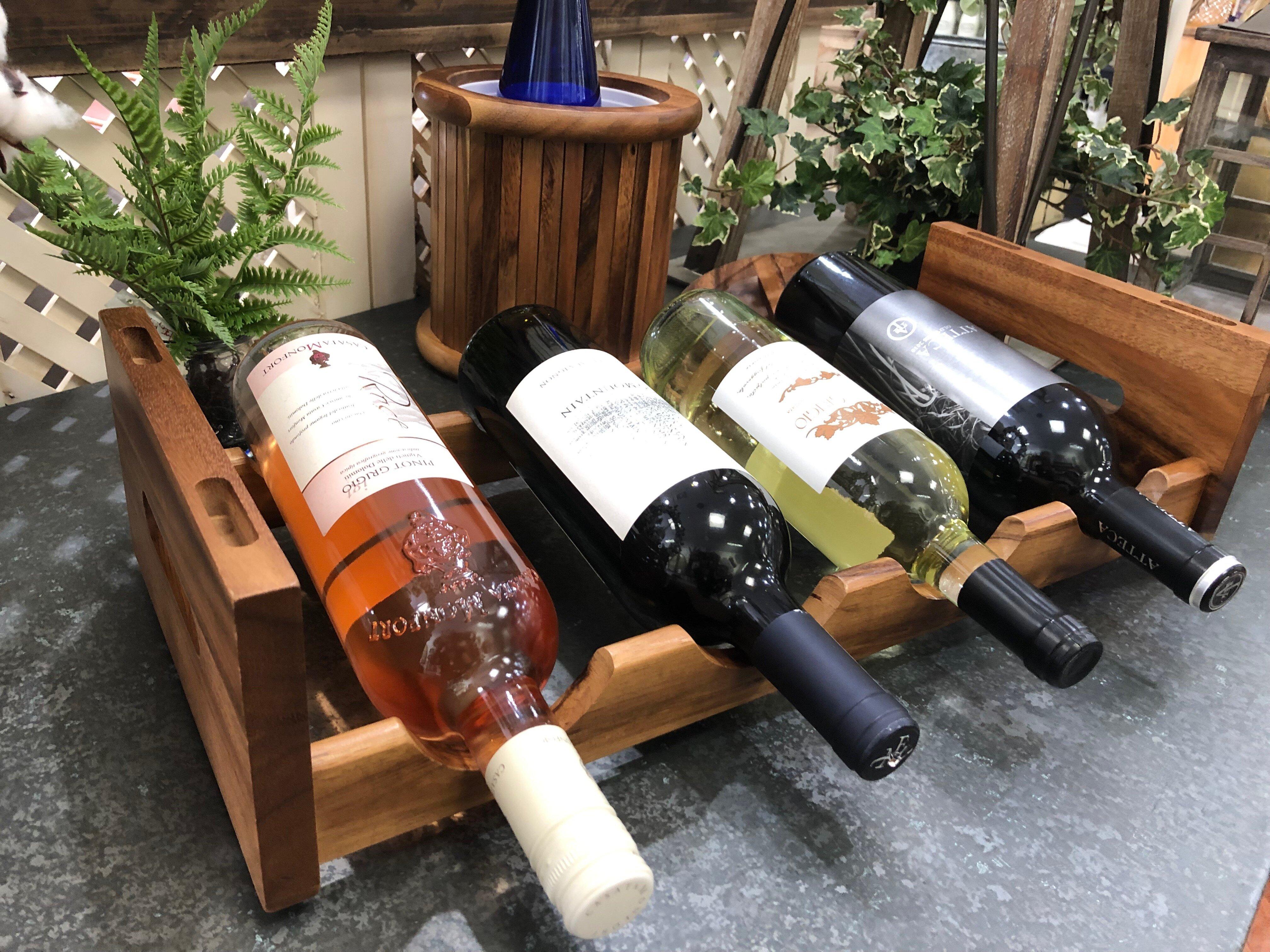 Gracie Oaks Woodmore 4 Bottle Tabletop Wine Bottle Rack Reviews Wayfair