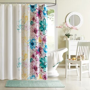 Robert Microfiber Shower Curtain
