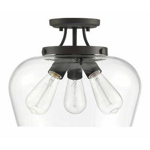 Hickerson 3-Light LED Semi Flush Mount by Mercury Row