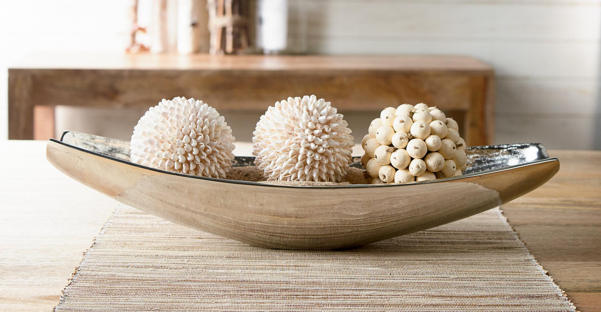 Orren Ellis Winne Oblong Aluminum Decorative Bowl Reviews Wayfair