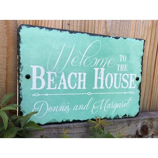 Welcome To The Beach House Wall Décor By Highland Dunes