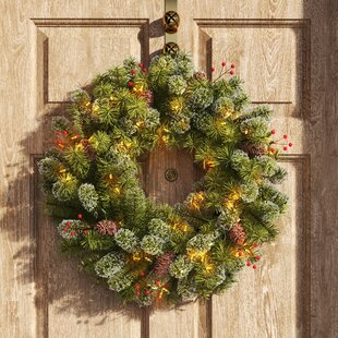 Handmade Christmas Wreath with Pine Cones 20-26 Inch Perfect Size Christmas Decoration for your Front Door