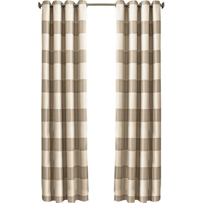 Beautyrest Gaultier Striped Max Blackout Grommet Single Curtain Panel Color: Natural, Size per Panel: 52 W x 108 L