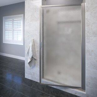 Inexpensive Sopora 32.88 x 67 Pivot Framed Shower Door ByBasco