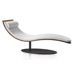 Corrigan Studio Daventry Genuine leather Chaise Lounge