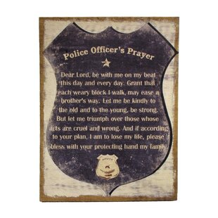 U0027A Police Officeru0027s Prayeru0027 Framed Textual Art