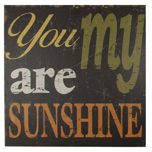 Bon You Are My Sunshine Wall Décor