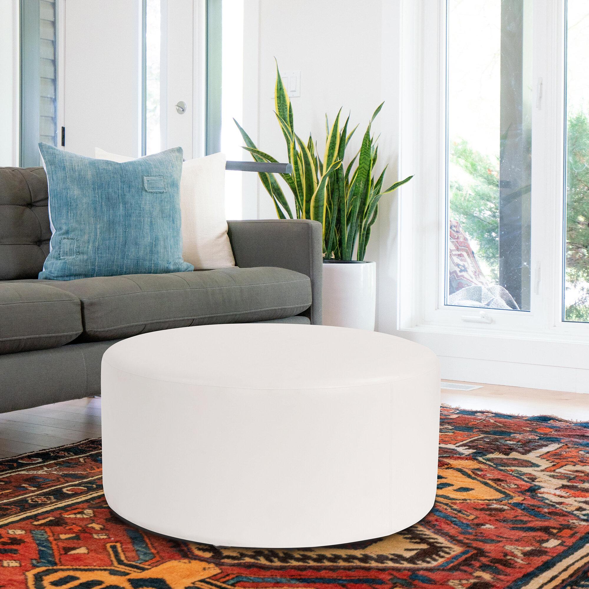 Orren Ellis Lehner Box Cushion Ottoman Slipcover Reviews Wayfair